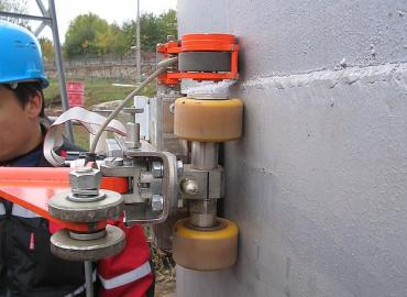 Non-destructive testing of floor and wall of above ground storage tanks